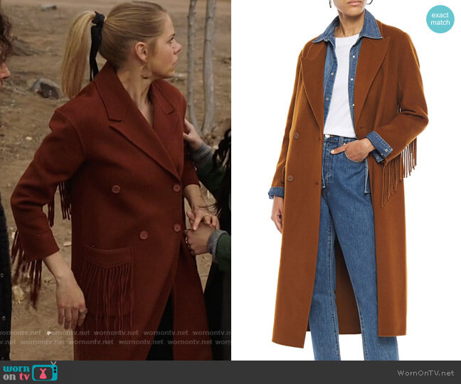 Sandro Hazeen Coat worn by Isobel Evans-Bracken (Lily Cowles) on Roswell New Mexico