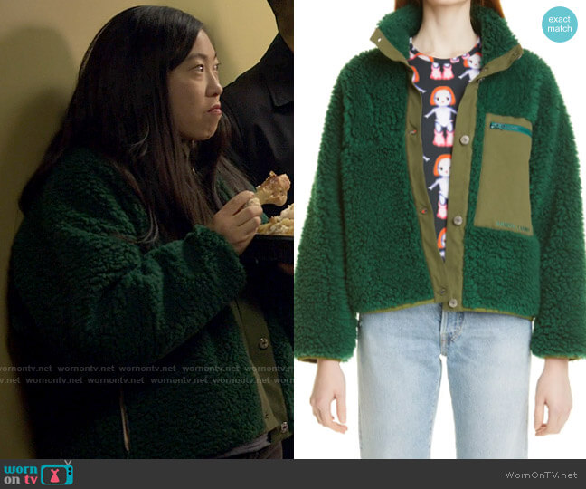 Sandy Liang Sport Fleece Jacket worn by Nora Lum (Awkwafina) on Awkwafina is Nora From Queens