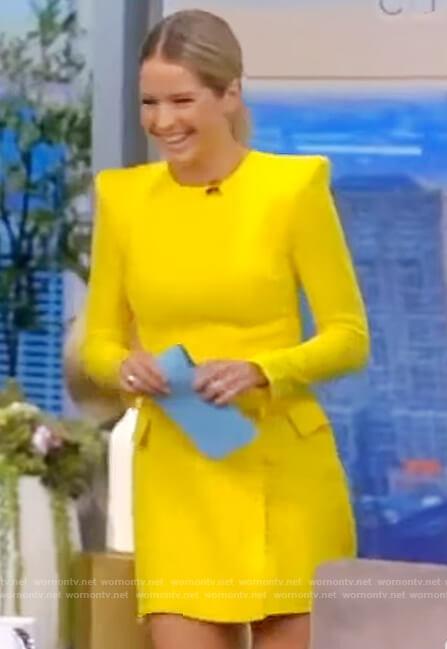 Sara's yellow mini dress on The View