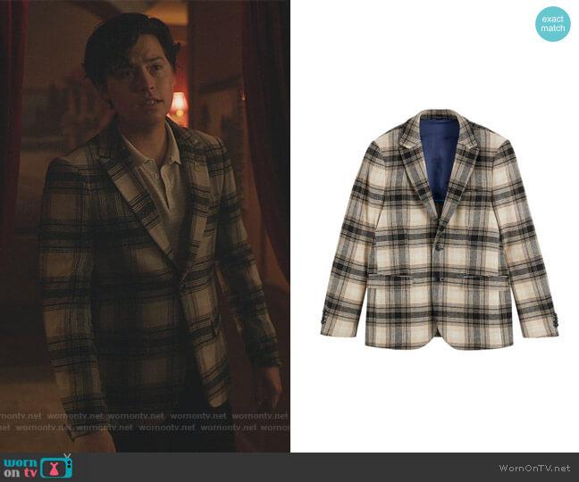 Plaid Blazer by Scotch & Soda worn by Jughead Jones (Cole Sprouse) on Riverdale