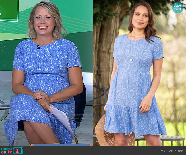 Dot Tiered Maternity & Nursing Dress by Seraphine worn by Dylan Dreyer  on Today