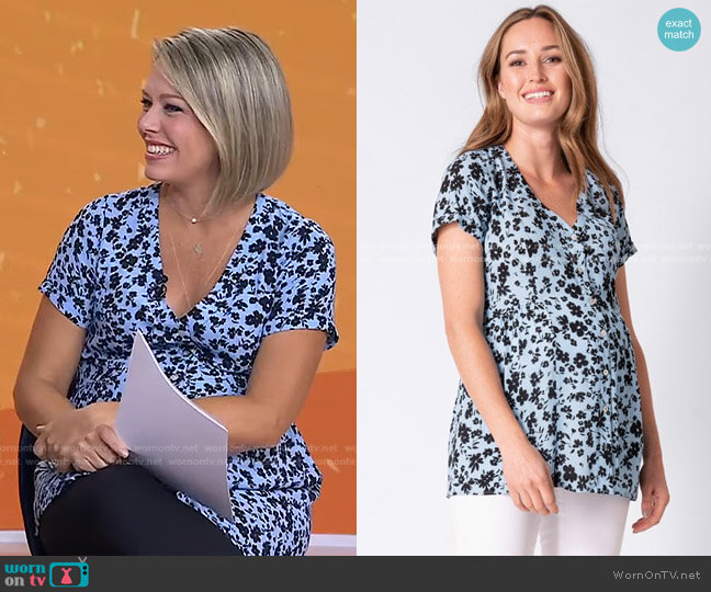 Floral Maternity Blouse by Seraphine worn by Dylan Dreyer  on Today