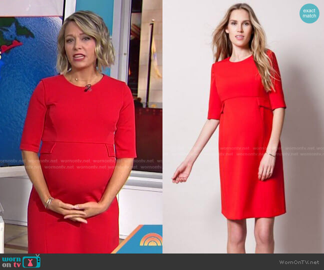 Scarlet Peplum Maternity Dress by Seraphine Maternity worn by Dylan Dreyer  on Today