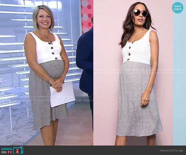 Double Layer Maternity & Nursing Dress by Seraphine Maternity worn by Dylan Dreyer  on Today