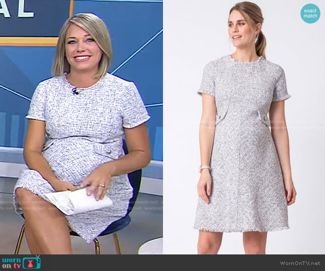 Woven Boucle Maternity Dress by Seraphine worn by Dylan Dreyer  on Today