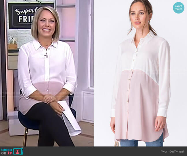 Colour Block Maternity Tunic by Seraphine worn by Dylan Dreyer  on Today