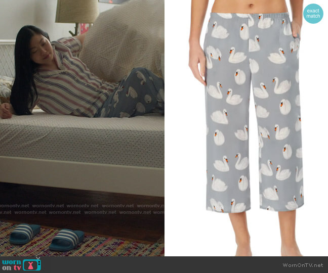 Shady Lady Crop Pajama Pants worn by Nora Lum (Awkwafina) on Awkwafina is Nora From Queens