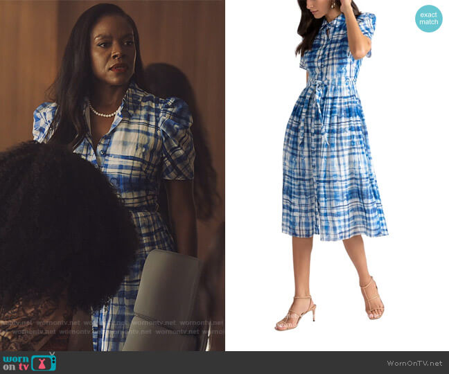 Darla Dress by Shoshanna worn by Leah Franklin-Dupont (Nadine Ellis) on Our Kind of People
