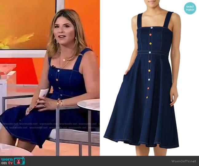 Olevia Denim Dress by Shoshanna worn by Jenna Bush Hager  on Today