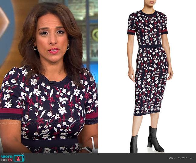 Shoshanna Evan Dress worn by Michelle Miller  on CBS Mornings