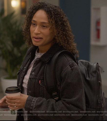 Sophie's black denim jacket on The L Word Generation Q