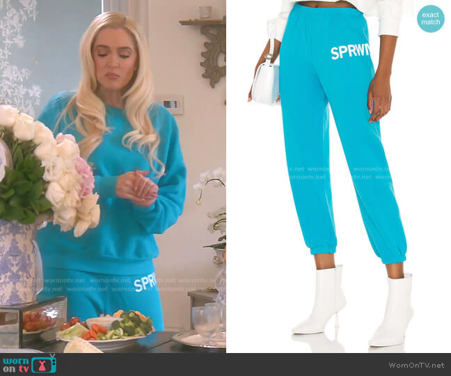 Small Logo Sweatpant by Sprwmn worn by Erika Jayne  on The Real Housewives of Beverly Hills