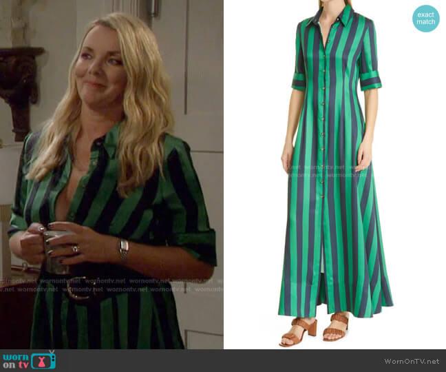 Joan Cabana Stripe Maxi Dress by Staud worn by Christie Clark on Days of our Lives: Beyond Salem