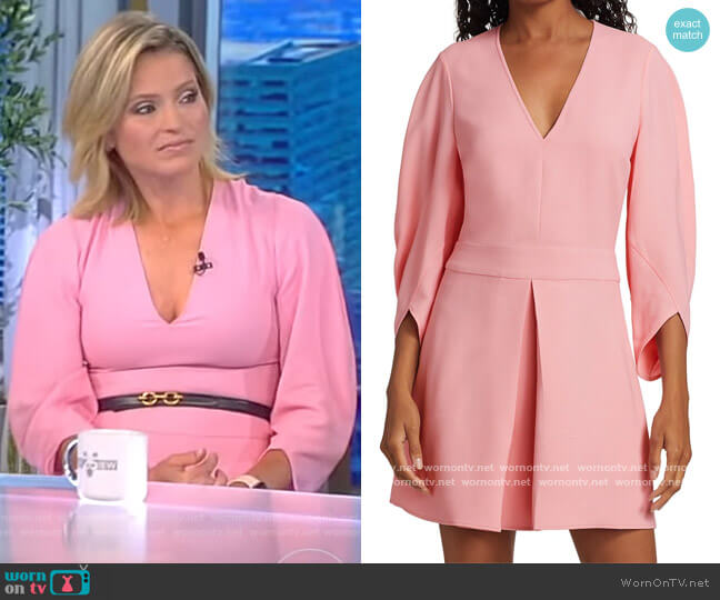 Maddison Tulip-Sleeve Cocktail Dress by Stella McCartney worn by Sara Haines  on The View