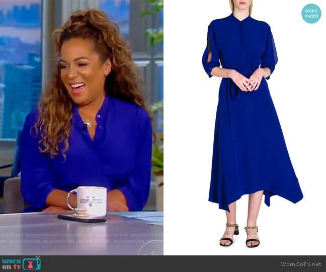 Olivia Silk Midi Dress by Stella McCartney worn by Sunny Hostin  on The View