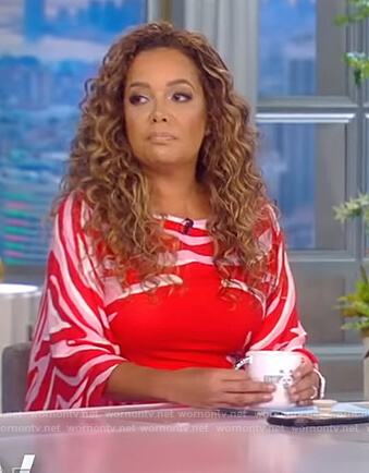 Sunny's red zebra print dress on The View