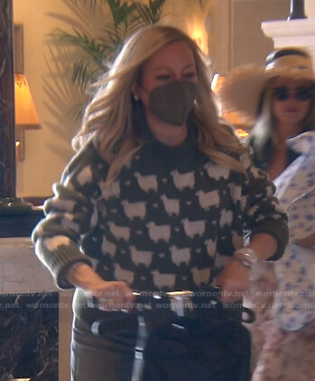 Kathy's straw hat on The Real Housewives of Beverly Hills