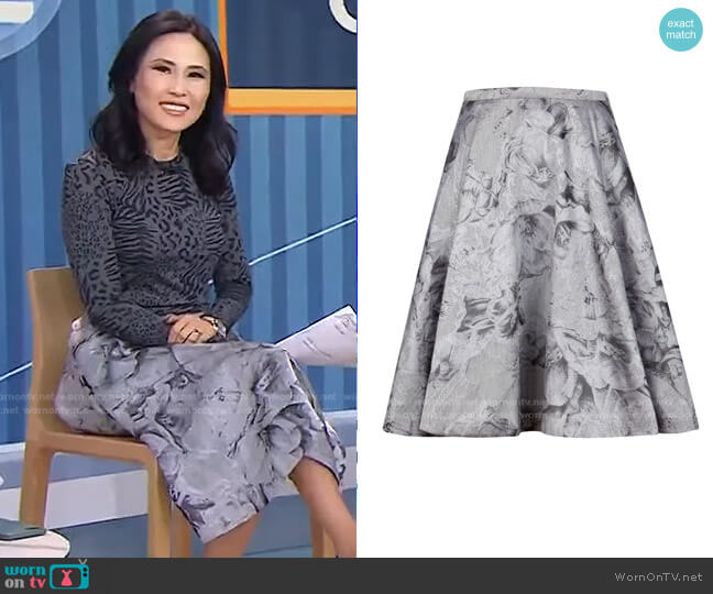 Caju Skirt by Ted Baker worn by Vicky Nguyen  on Today