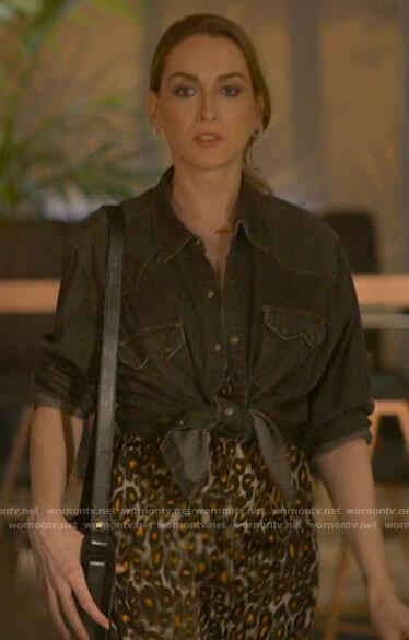 Tess's leopard print dress on The L Word Generation Q