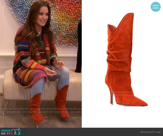 Pointed-Toe Boots by The Attico worn by Kyle Richards  on The Real Housewives of Beverly Hills