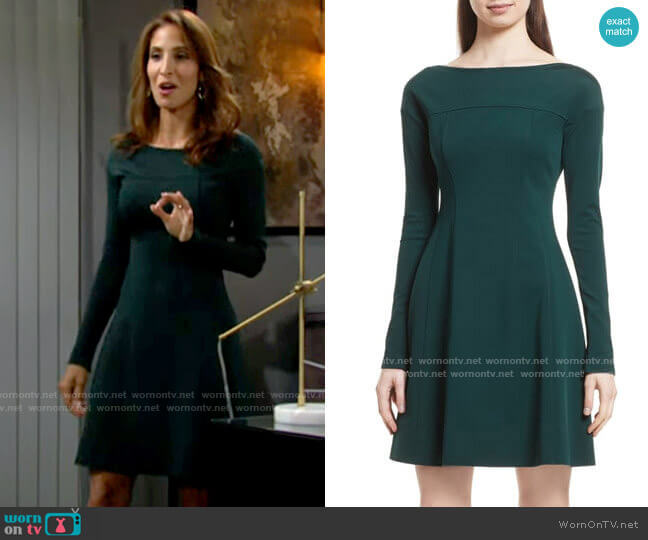 Theory Valentina Dress worn by Lily Winters (Christel Khalil) on The Young & the Restless