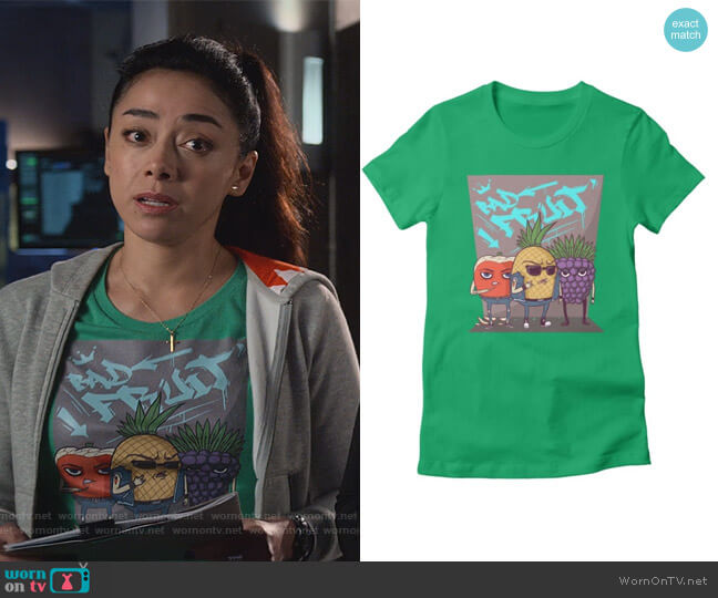 Bad Fruit by Fav Fruit and Vegetables at Threadless worn by Ella Lopez (Aimee Garcia) on Lucifer