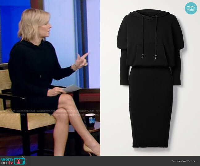 Hooded Ribbed Cashmere-Blend Dress by Tom Ford worn by Dr. Jennifer Ashton on Live with Kelly and Ryan