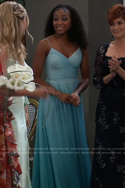 Trina's blue ombre gown on General Hospital