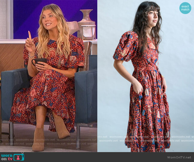 Agathe Dress by Ulla Johnson worn by Amanda Kloots  on The Talk