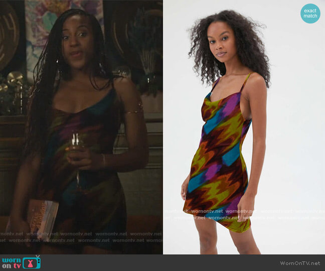 Mallory Slip Dress by Urban Outfitters worn by Asha Bromfield on Riverdale