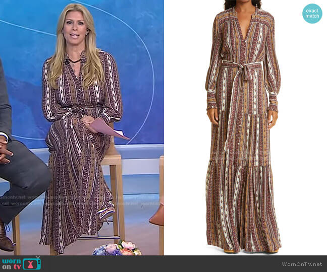 Maidens Maxi Dress by Veronica Beard worn by Jill Martin  on Today