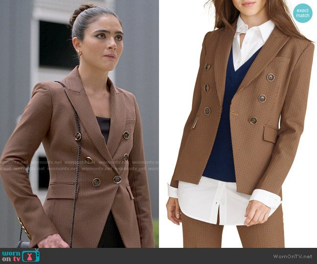 Veronica Beard Miller Check Dickey Jacket worn by Dani Nunez (Arienne Mandi) on The L Word Generation Q