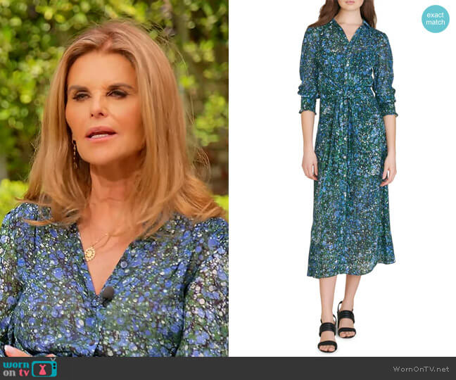 Mirren Abstract Print Shirtdress by Veronica Beard worn by Maria Shriver  on Today