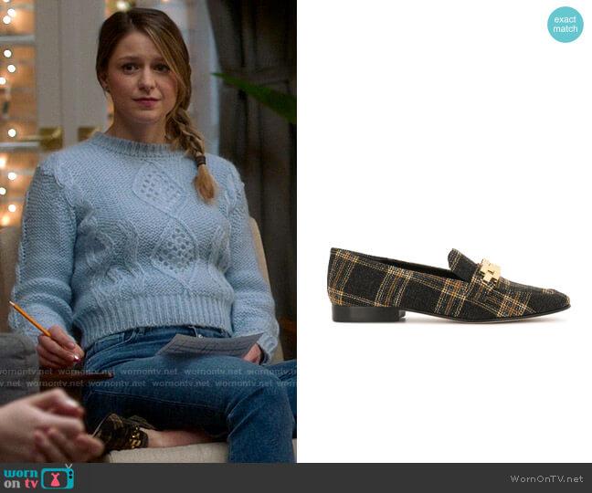 Veronica Beard Alire Plaid Loafer worn by Kara Danvers (Melissa Benoist) on Supergirl