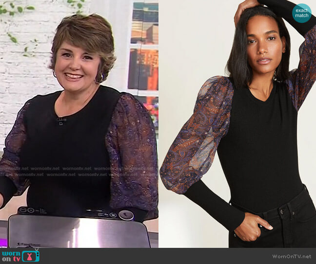 Leila Pullover by Veronica Beard worn by Jill Bauer on Today