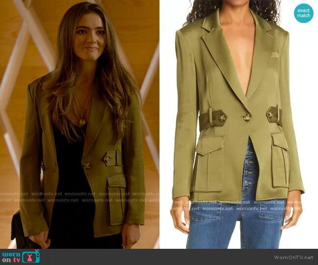 Veronica Beard Myla Dickey Blazer worn by Dani Nunez (Arienne Mandi) on The L Word Generation Q