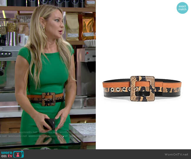 Veronica Beard Risa Belt worn by Sharon Collins (Sharon Case) on The Young & the Restless