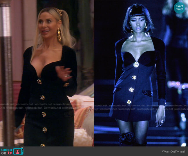 Fall 1991 Collection by Versace worn by Dorit Kemsley  on The Real Housewives of Beverly Hills