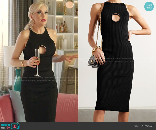 Cut-Out Detail Dress by Versace worn by Alexis Carrington (Elaine Hendrix) on Dynasty