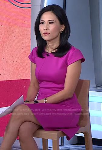 Vicky's pink cap sleeve dress on Today