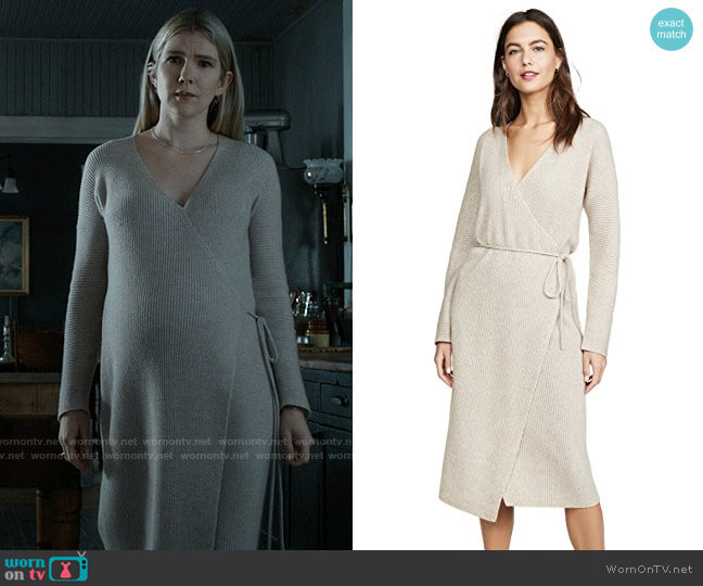 Vince Ribbed Wrap Dress worn by Doris Gardener (Lily Rabe) on American Horror Story