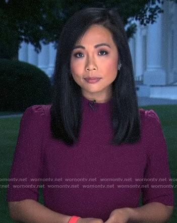 Weijia Jiang's purple dress on CBS Mornings
