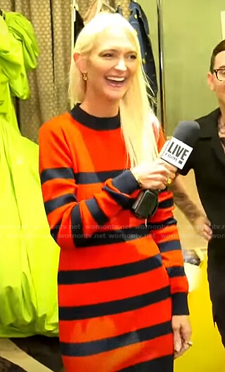 Zanna Roberts Rassi's red striped knit dress on E! News Daily Pop