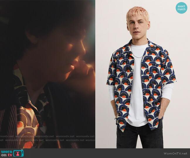 Geometric Print Shirt by Zara worn by Jughead Jones (Cole Sprouse) on Riverdale