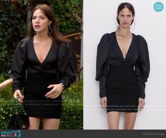Zara Voluminous Sleeve Dress worn by Tessa Porter (Cait Fairbanks) on The Young & the Restless