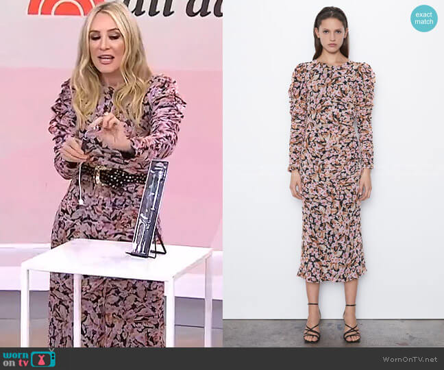 Floral Print Dress by Zara worn by Chassie Post  on Today