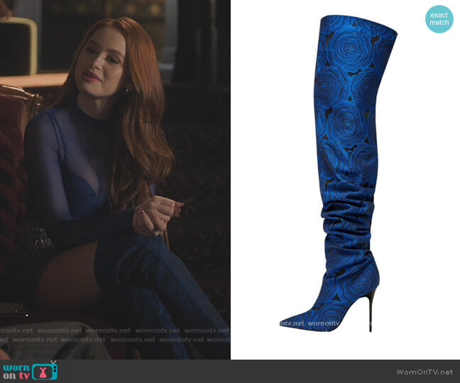 Rose Jacquard Boots by Zara worn by Cheryl Blossom (Madelaine Petsch) on Riverdale