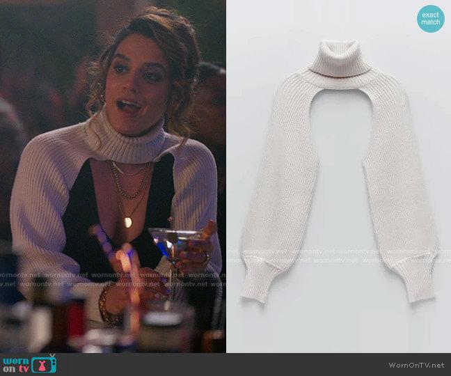 Zara Knit Arm Warmers with Turtleneck worn by Gigi Ghorbani (Sepideh Moafi) on The L Word Generation Q