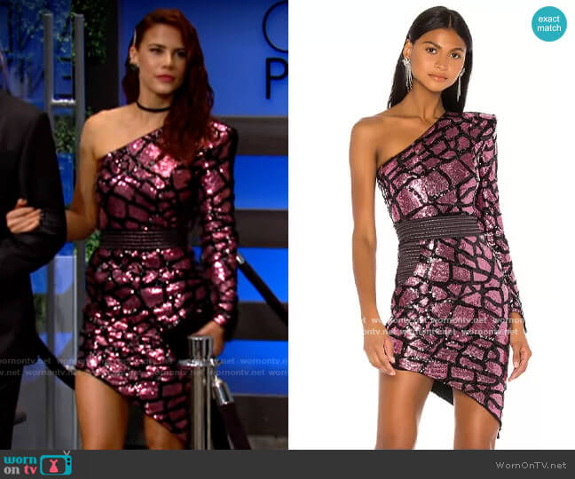 Zhivago Karijini Mini Dress worn by Sally Spectra (Courtney Hope) on The Young & the Restless
