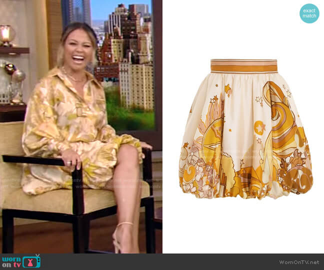 Tempo Bubble Skirt by Zimmermann worn by Vanessa Lachey
